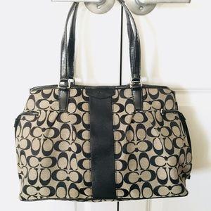 Vintage Coach Drawstring Carryall Shoulder Bag